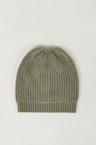 Cashmere-Mütze Salbei