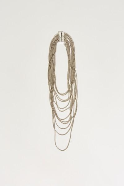 Elegante Halskette Silber