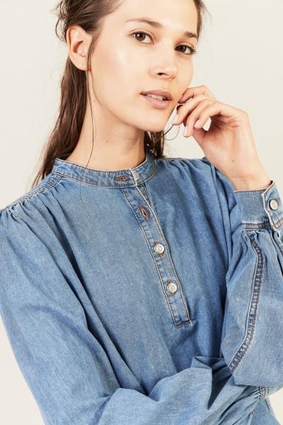Jeans-Bluse Blau