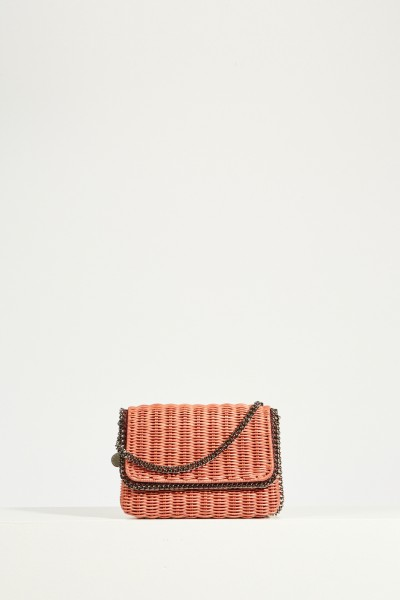 Shoulder Bag 'Falabella Wicker' Rose/Silver
