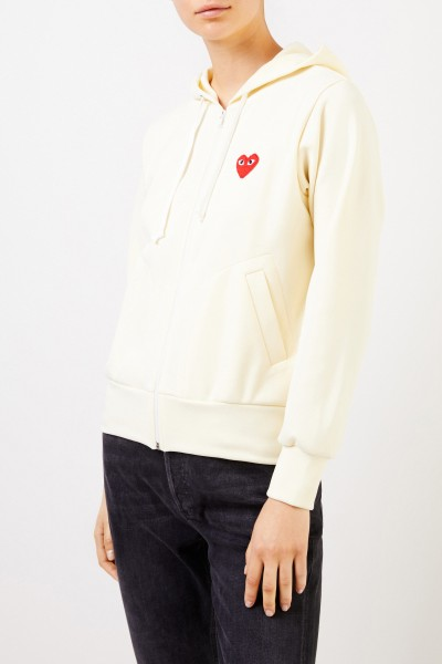 Comme des Garcons Play Sweat jacket with heart emblem Yellow