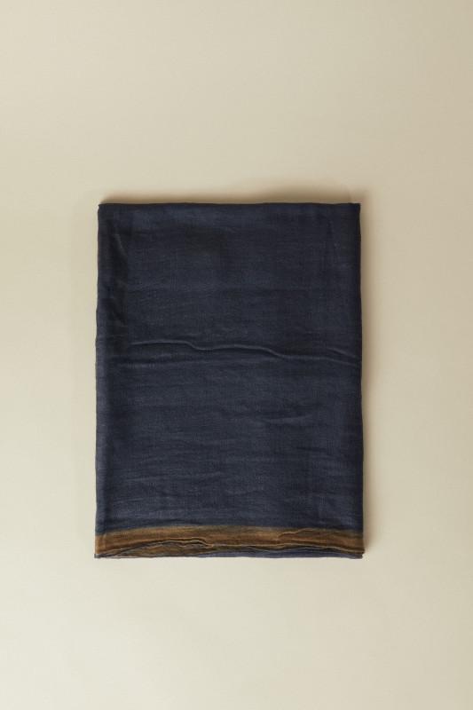 Cashmere-Schal Blau/Beige