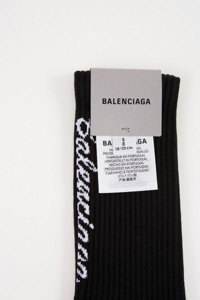 Balenciaga Tennissocken mit Logo Schwarz