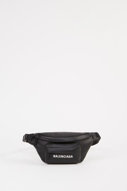 Balenciaga Leder-Gürteltasche 'Everyday Belt' mit Logo Schwarz