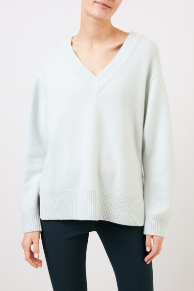 Vince Cashmere sweater with V-neck Mint