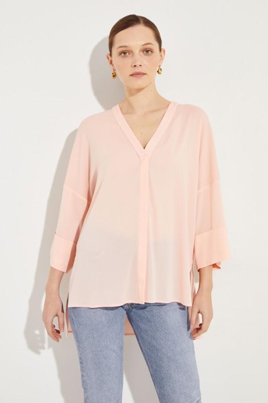 Seiden-Bluse Rosè
