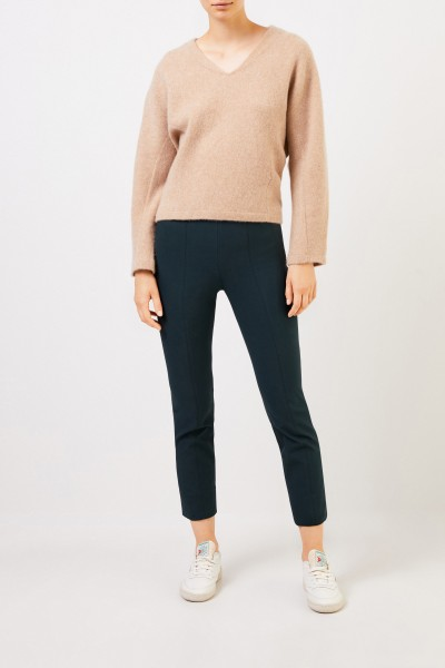 Cashmere Sweater with V-Neck Beige