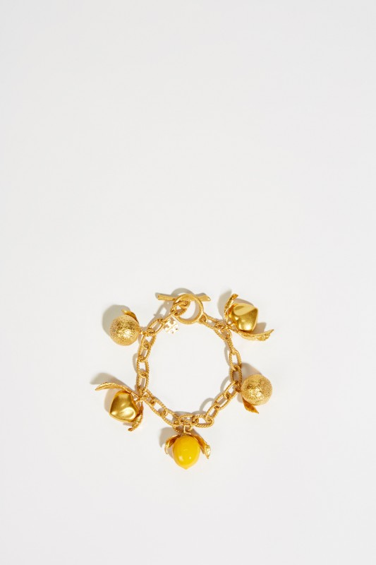 Armband mit Charms Gold/Gelb