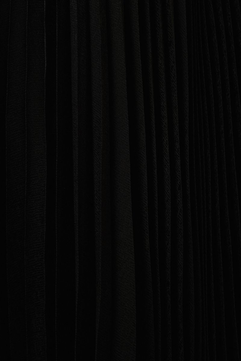 Seidenrock mit Plissee-Falten Schwarz