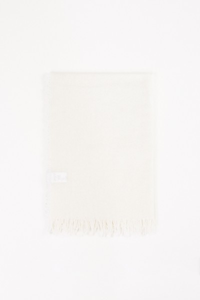 Wool-Silk-Scarf White