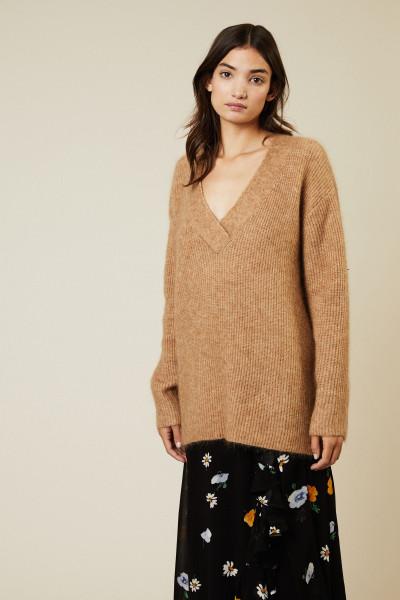Oversize Mohair-Woll-Pullover 'Evangelista' Beige
