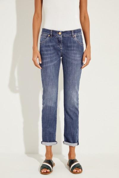 Skinny-Fit Jeans Blau