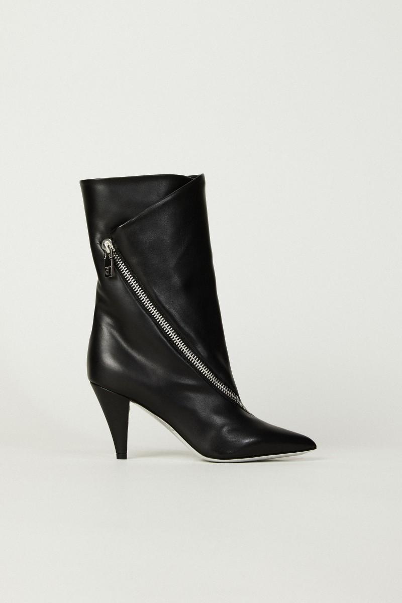 Boots mit Zipper-Detail Schwarz