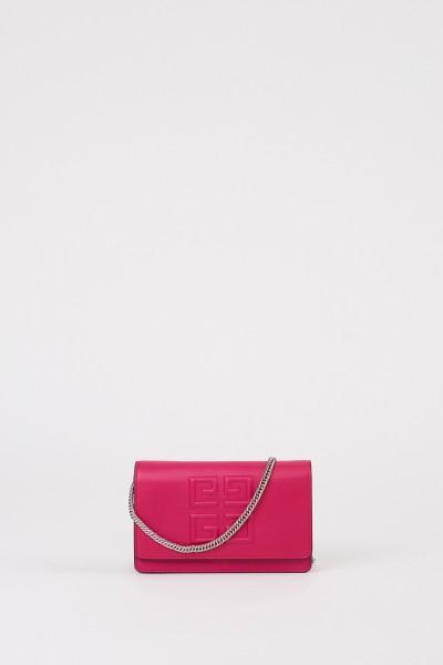 Clutch 'Emblem Chain Wallet' Fuchsia