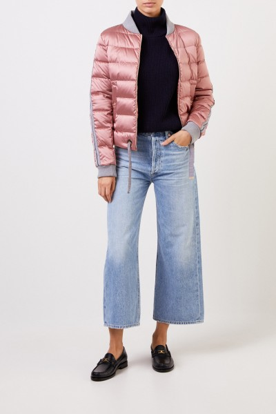 Down jacket with college collar Light Pink