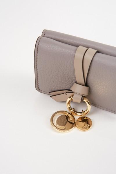 Chloé Mini-Portemonnaie 'Alphabet Coins' Cashmere Grey