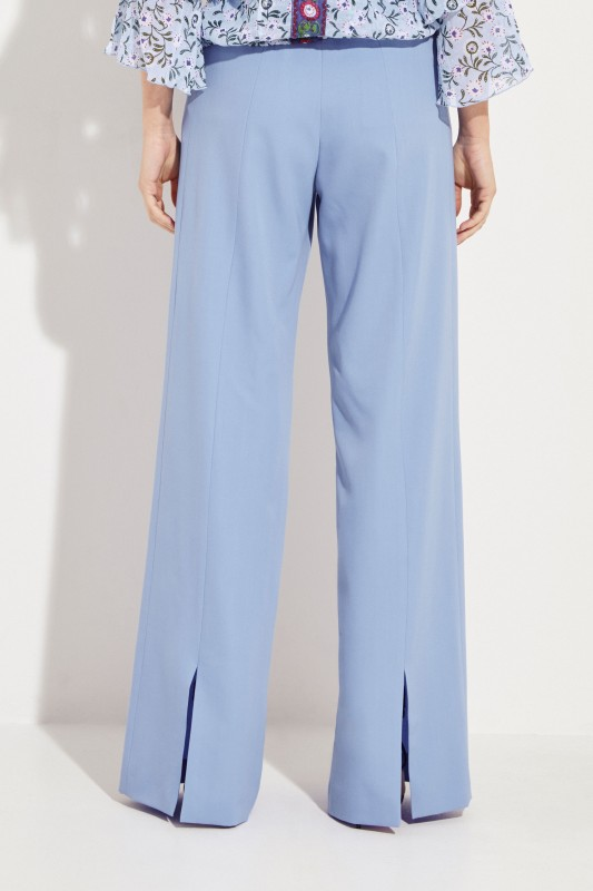 Wide Woollen Pants Blue
