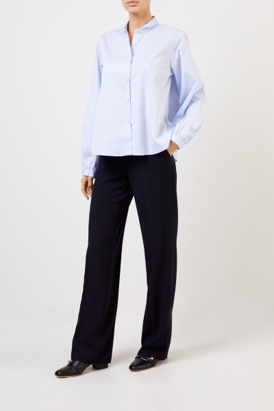 Pleated trousers 'May' Navy Blue