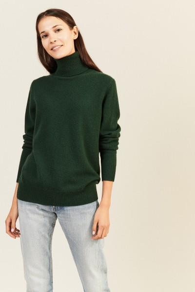 Cashmere-Rollkragenpullover Grün