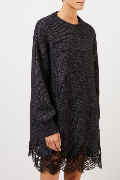 Givenchy Knitted dress with lace details Anthracite
