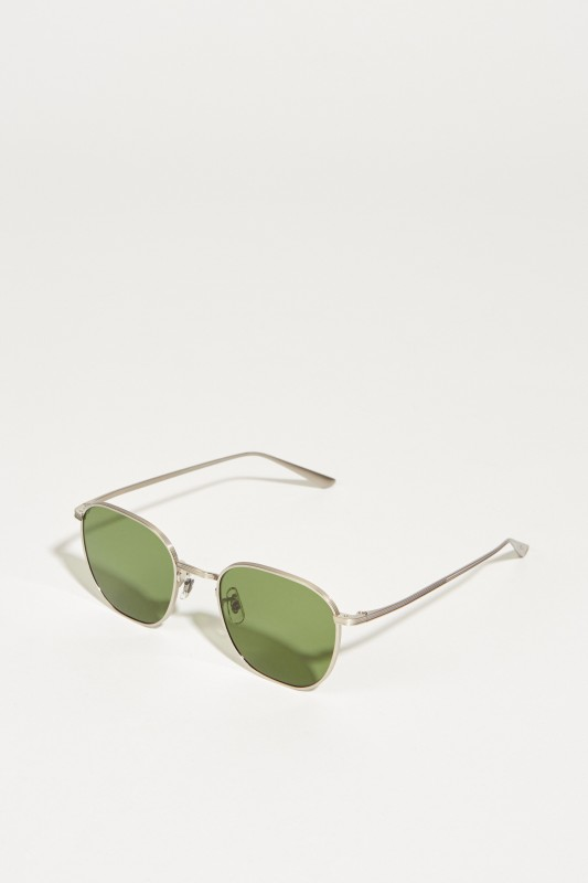 Oliver Peoples Sonnenbrille 'The Row' Silber/Grün