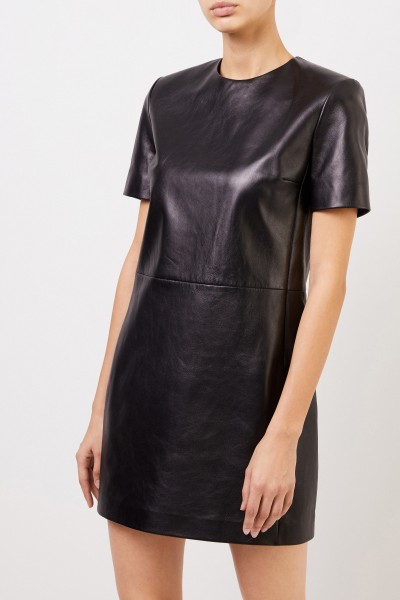 Saint Laurent Classic Leather Dress Black