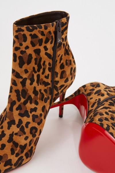 Christian Louboutin Ankle Boots 'Eloise Booty 85' Caramel/Multi
