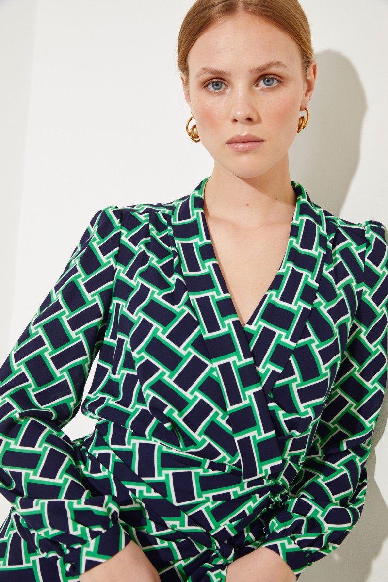 Zweiteiliges Hemdblusenkleid 'Carla' Multi