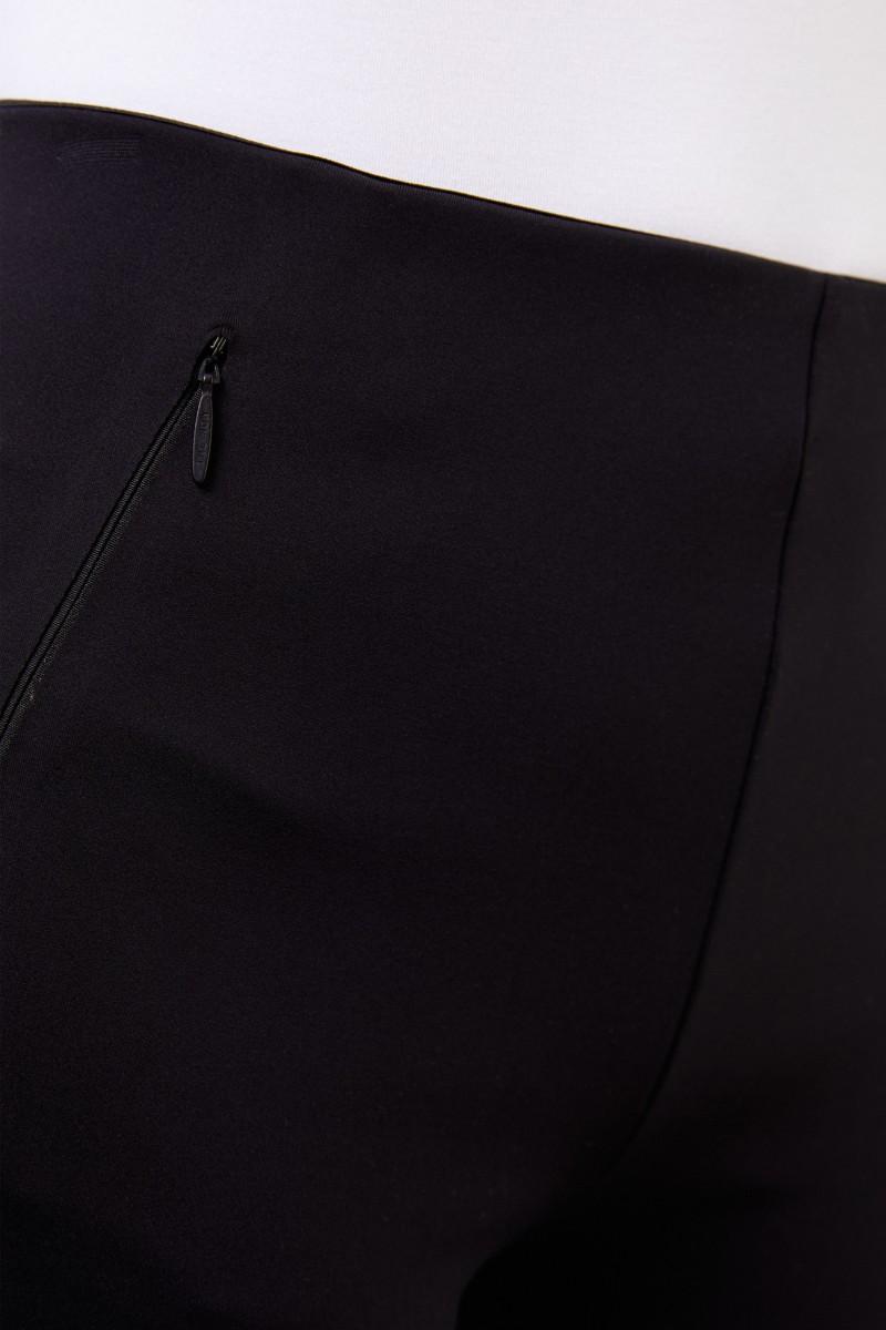 Elastische Hose 'Corza' mit Reißverschluss Detail Schwarz