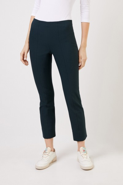 Vince Elastic trousers with slit Green