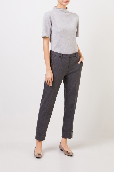 Trousers 'Krystal' with hem cover Grey Meliert