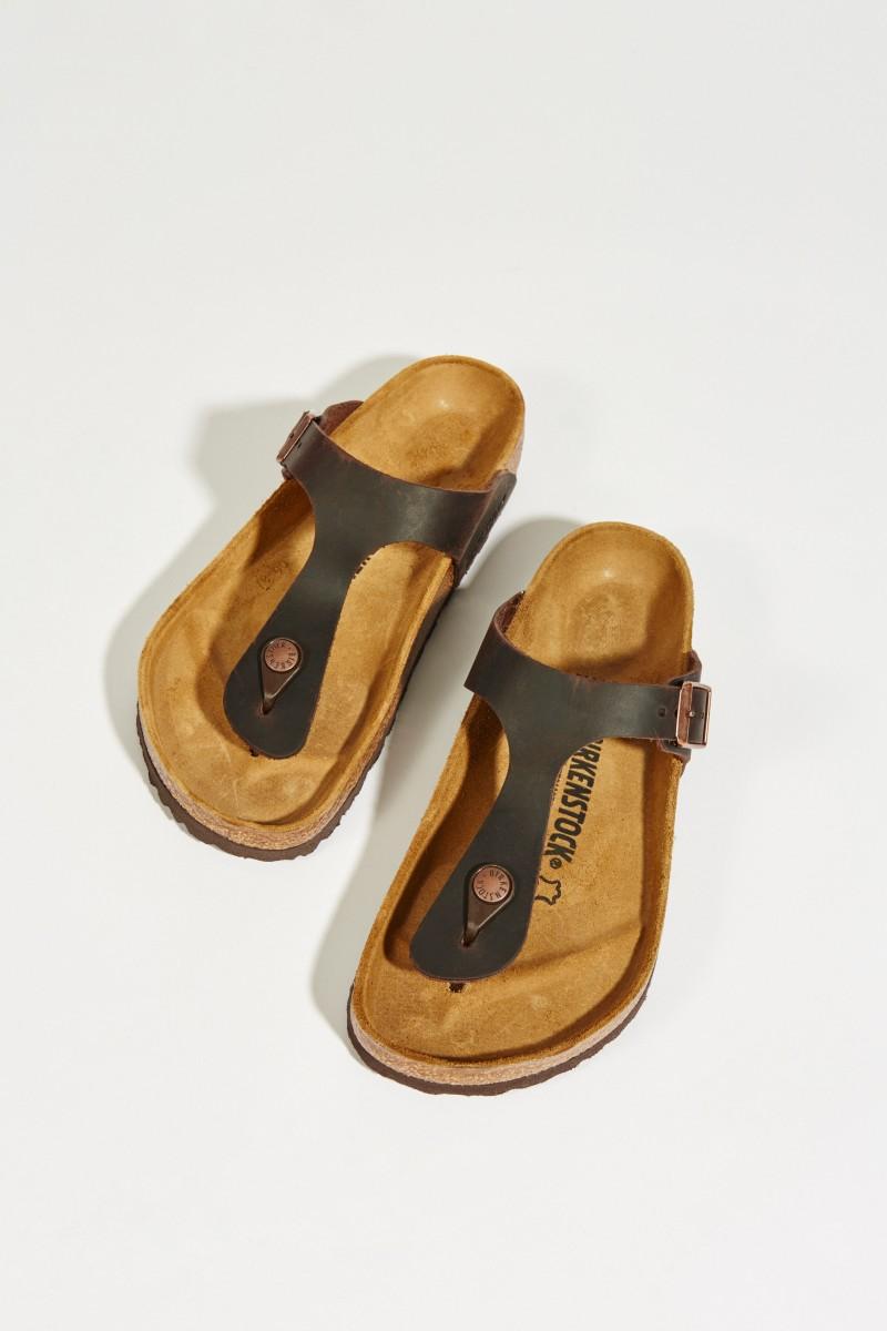 Sandale 'Gizeh' Dunkelbraun