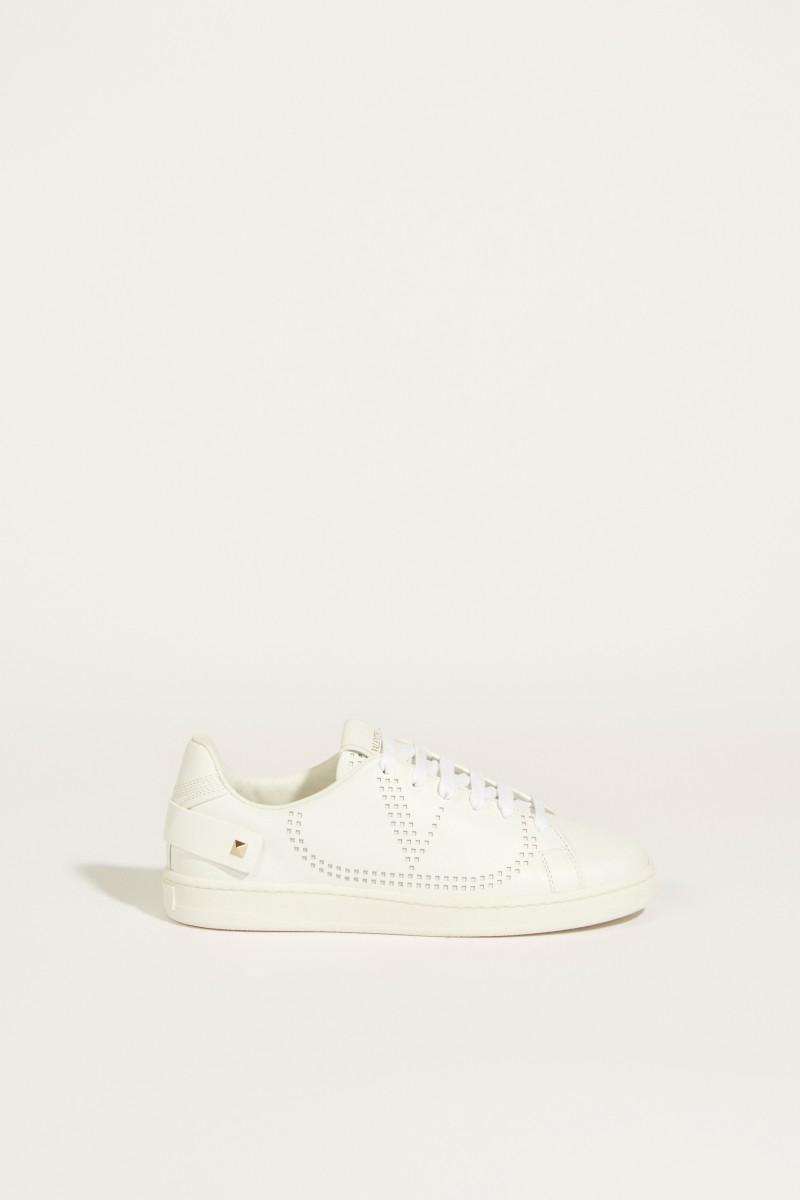 Sneaker mit Schmuckdetail Weiß
