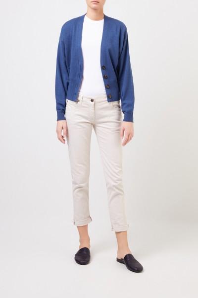 Cashmere cardigan Blue