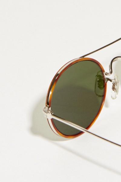 Oliver Peoples Sonnenbrille 'Shai' Cognac/Silber
