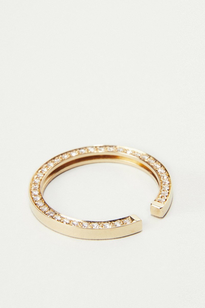 Ohrring 'Lua' mit Diamanten Gold