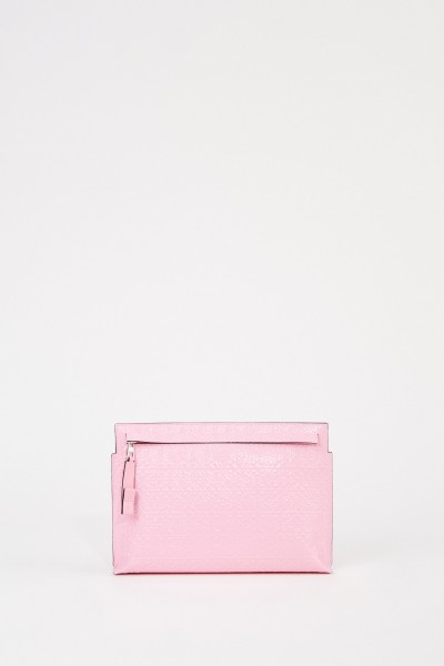 Clutch 'Pouch Repeat'' mit Logo Pink