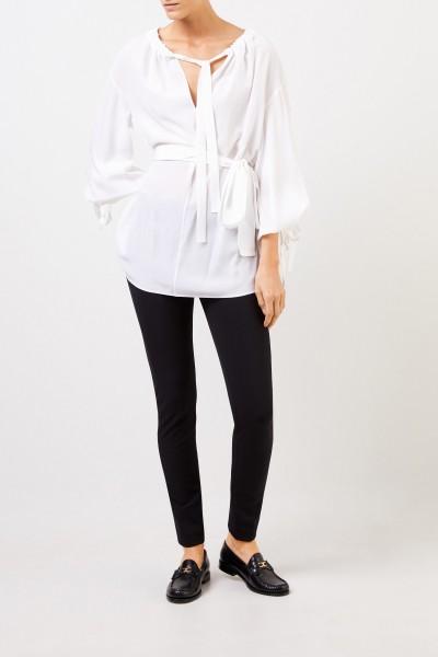 Stella McCartney Silk blouse with tie detail White