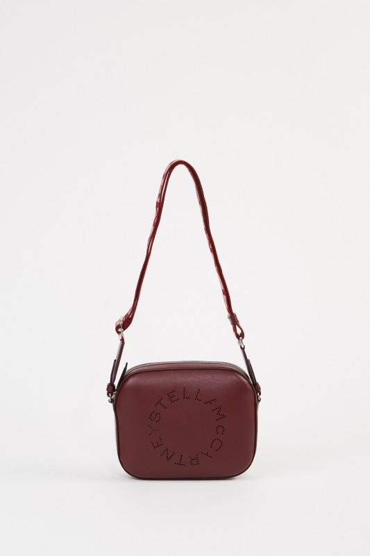 Stella McCartney Umhängetasche 'Mini Camera Bag' Bordeaux