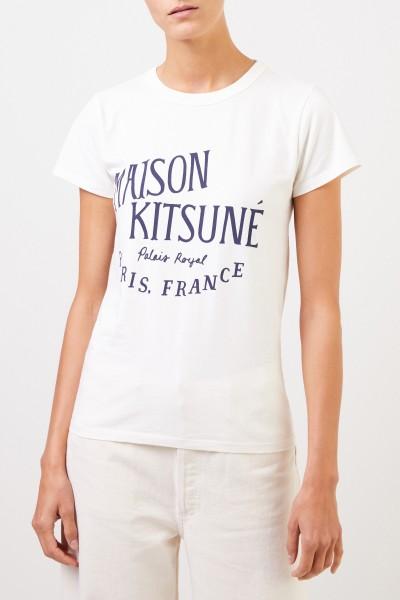 Maison Kitsuné T-Shirt 'Palais Royal' Crème
