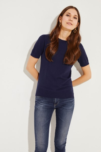 Kurzarm Pullover Blau