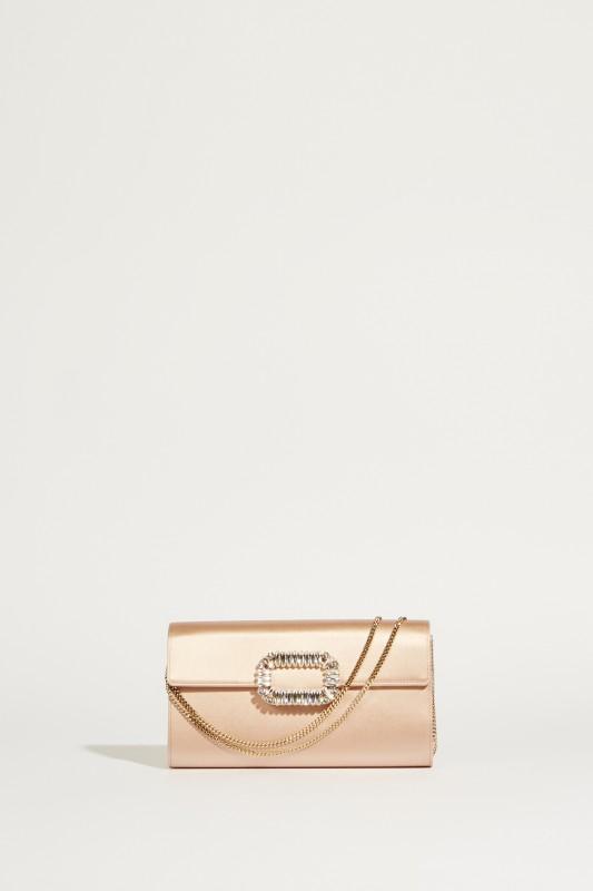 Satin-Clutch 'Envelope Flap' Rosé