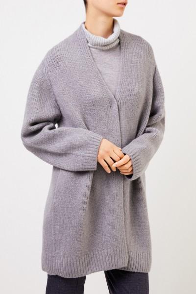 Fabiana Filippi Langer Woll-Cardigan Grau