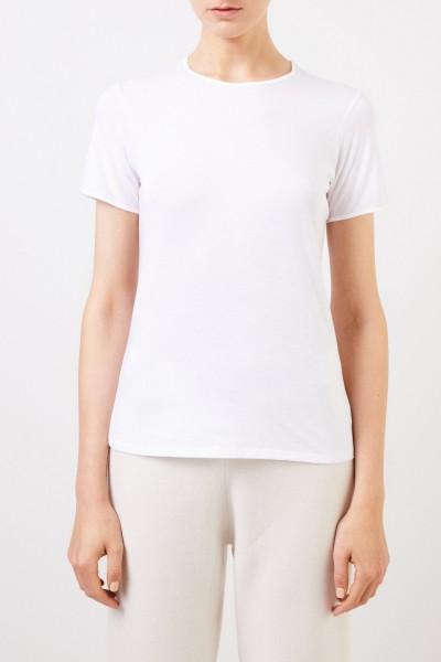 Vince Schlichtes T-Shirt Weiß