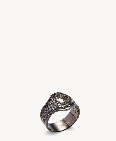 Ring 'Shield Ring' 18K Schwarzgold
