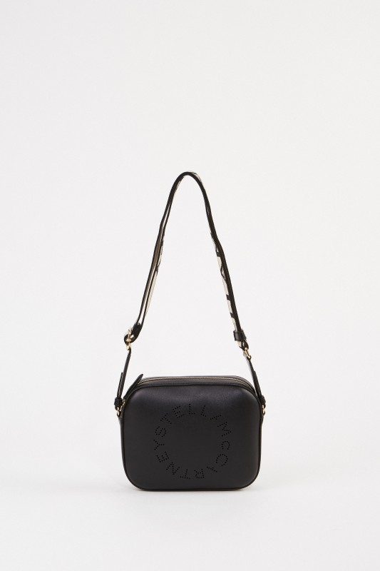 Stella McCartney Umhängetasche 'Mini Camera Bag' Schwarz