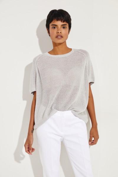 Leinen-Pullover 'Senta' Grau