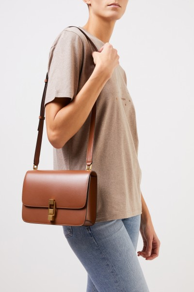 Saint Laurent Leather shoulder bag 'Carre' Brick