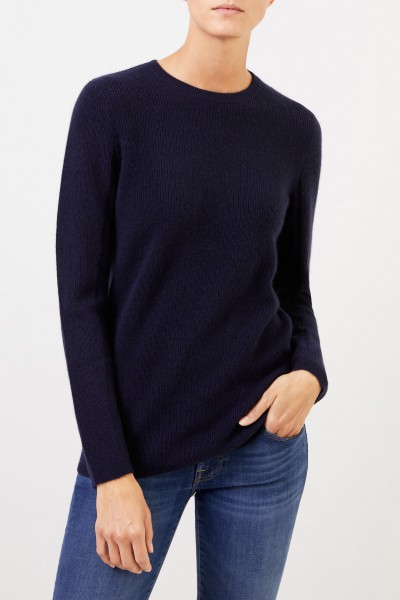 Uzwei Cashmere pullover with mesh knit Navy