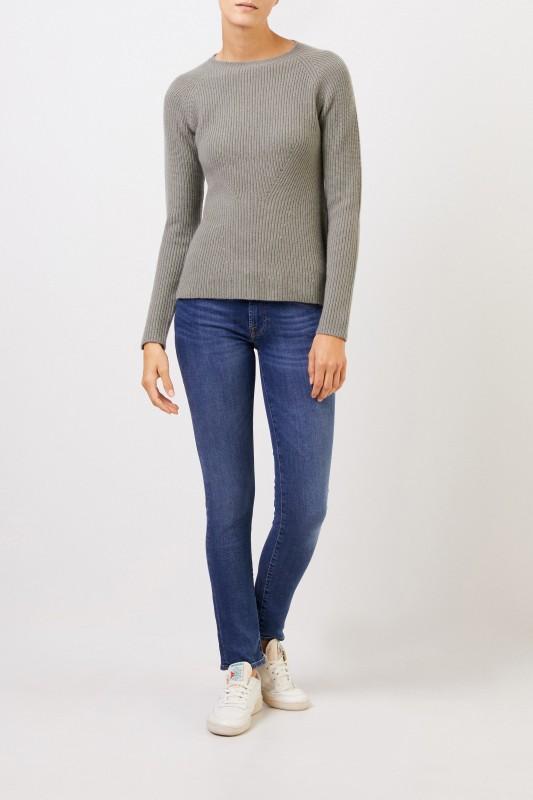 UZWEI Cashmere-Pullover mit Strickdetail Salbei
